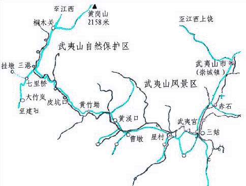武夷山自助旅游地图