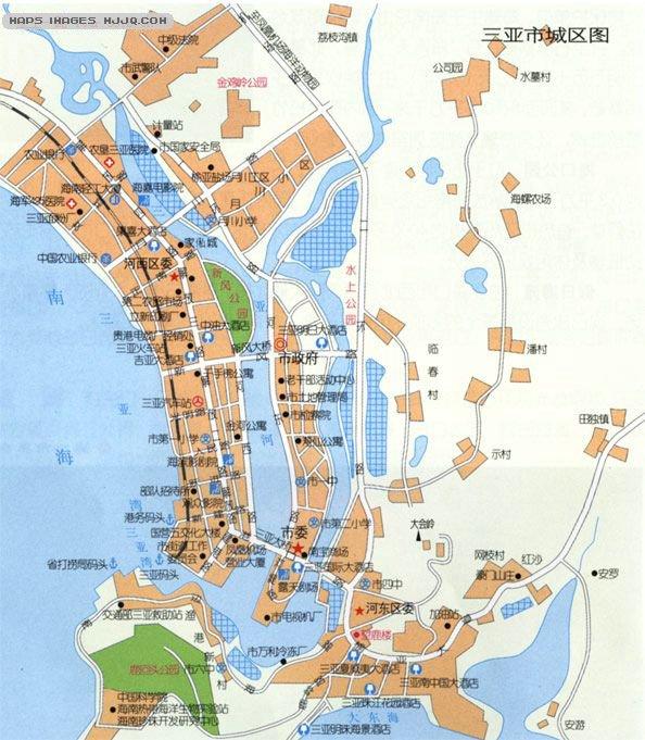 三亚自助旅游地图