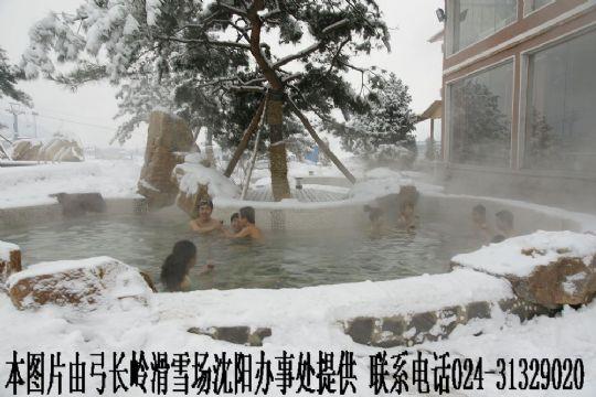 弓长岭新建室外温泉游泳了