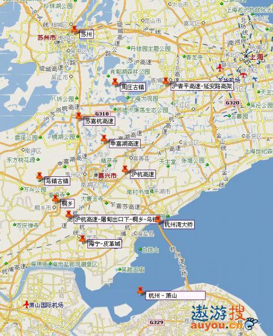 乌镇周边路线图